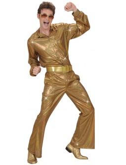 Pantalon disco en oro