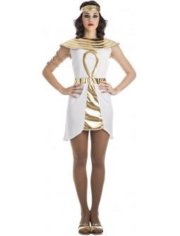Disfraz de Egipcia Dorado y Blanco para Mujer