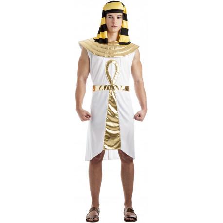 Disfraz de Egipcio Dorado y Blanco para Hombre