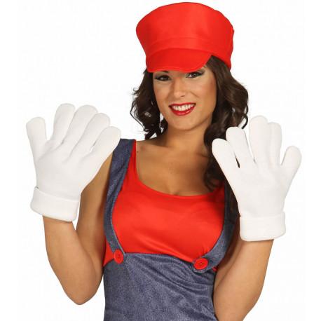 Guantes Blancos de Super Mario