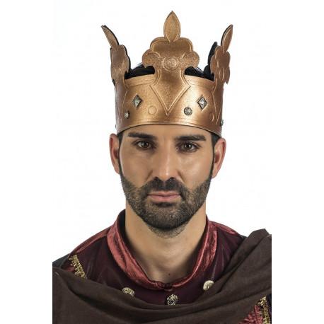 Corona de Rey del Medieval con Pedrería