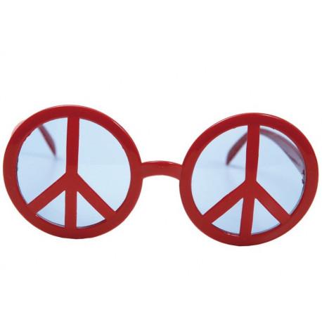 Gafas con el Símbolo de la Paz Rojas