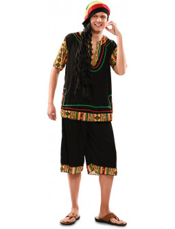 Disfraz de Rastafari Jamaicano para Adulto