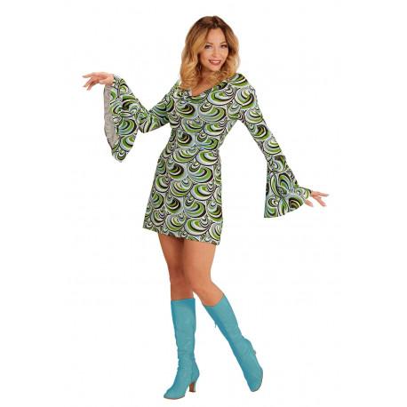 Disfraz Disco Años 70 Verde para Mujer