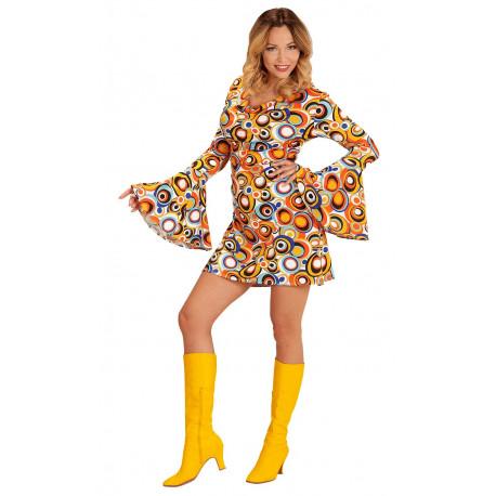 Disfraz Disco Años 70 Multicolor para Mujer
