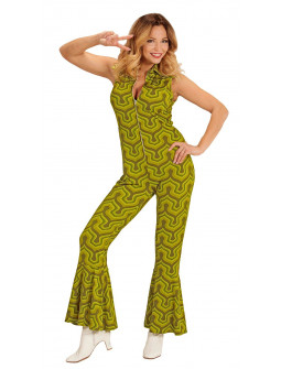 Disfraz Disco Años 70 Verde Pistacho para Mujer