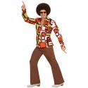 Camisa Disco Años 70 Multicolor para Hombre