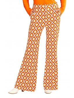 Pantalones de Campana Disco Años 70 para Mujer
