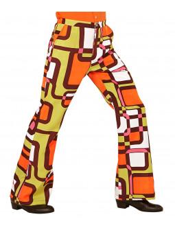 Pantalones de Campana Disco Años 70 para Hombre