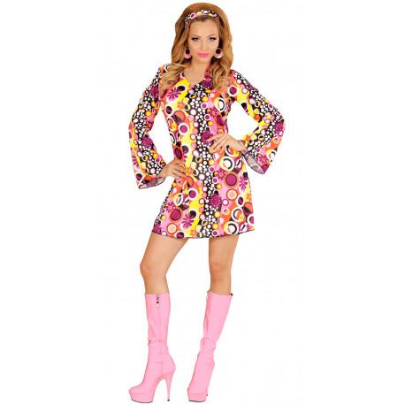 Disfraz Disco Setentero Multicolor para Mujer