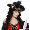 Sombrero Pirata Elegante con Pluma