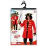 Disfraz de Capitán Pirata Rojo para Adulto