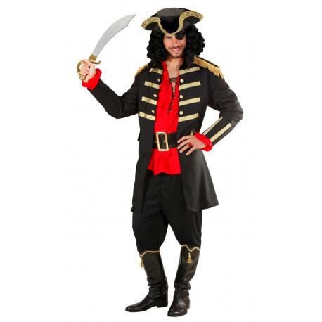 Disfraz de Capitán Pirata Negro para Adulto