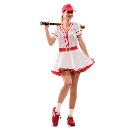 Disfraz de Jugadora de Béisbol para Adulto
