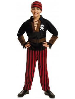 Disfraz de Bucanero con Camisa Negra para Niño