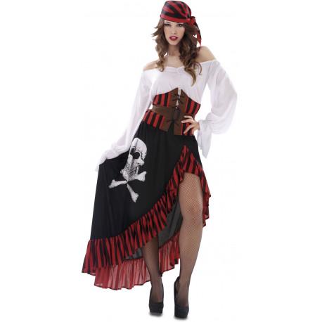 Disfraz de Pirata Largo para Mujer