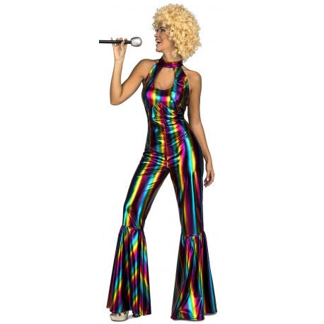 Disfraz Disco Multicolor para Mujer