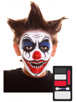 Kit de Maquillaje de Payaso Asesino Infantil