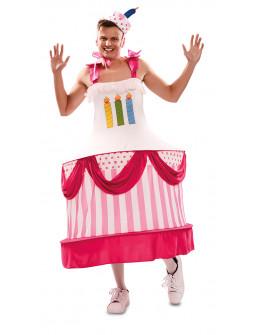 Disfraz de Tarta de Cumpleaños para Adulto
