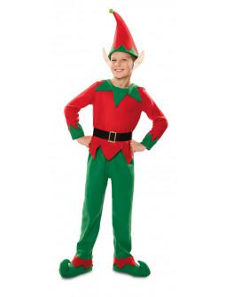 Disfraz de Elfo Navideño con Orejas para Niño