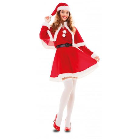 Disfraz de Mamá Noel con Capa para Adulto