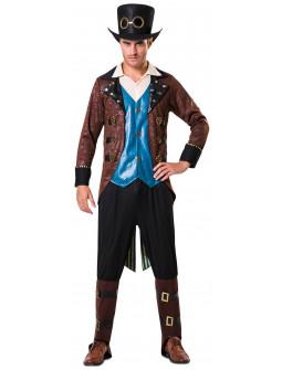 Disfraz de Steampunk con Chaleco Azul para Hombre