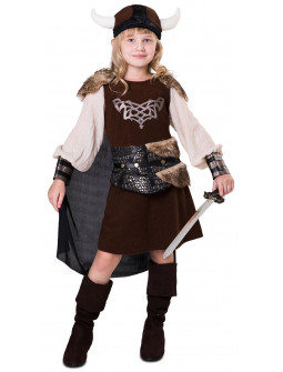 Disfraz de Vikinga Salvaje para Niña