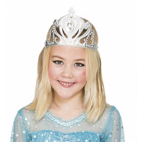 Corona Plateada de Reina Infantil