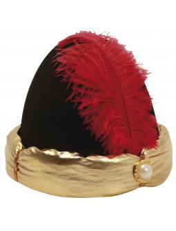 Sombrero con Turbante Árabe Dorado