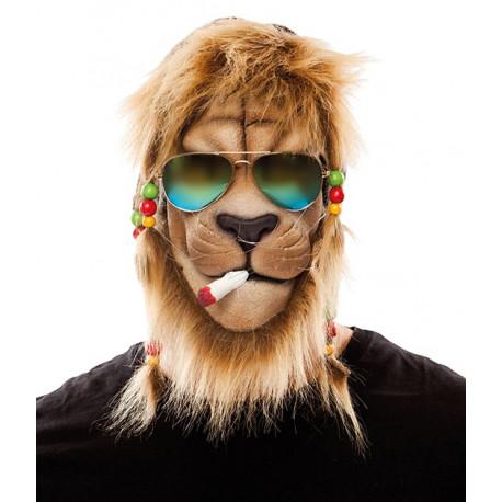Máscara de León Jamaicano con Gafas
