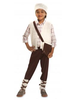 Disfraz de Pastorcillo con Zurrón para Niño