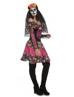 Disfraz de Catrina Rosa para Mujer