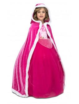 Capa Rosa de Princesa Infantil