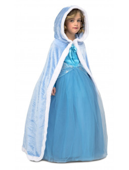 Capa Azul de Princesa Infantil