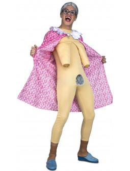 Disfraz de Anciana Exhibicionista para Adulto