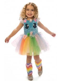 Disfraz de Unicornio Adorable en Azul para Niña
