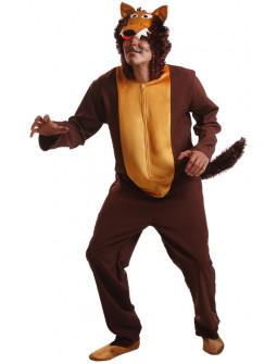 Disfraz de Lobo Marrón para Adulto