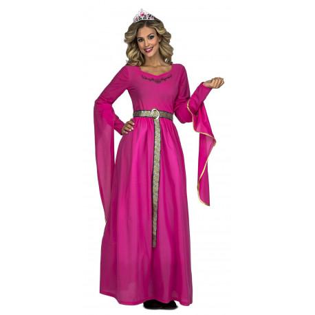 Disfraz de Reina Medieval Rosa para Mujer