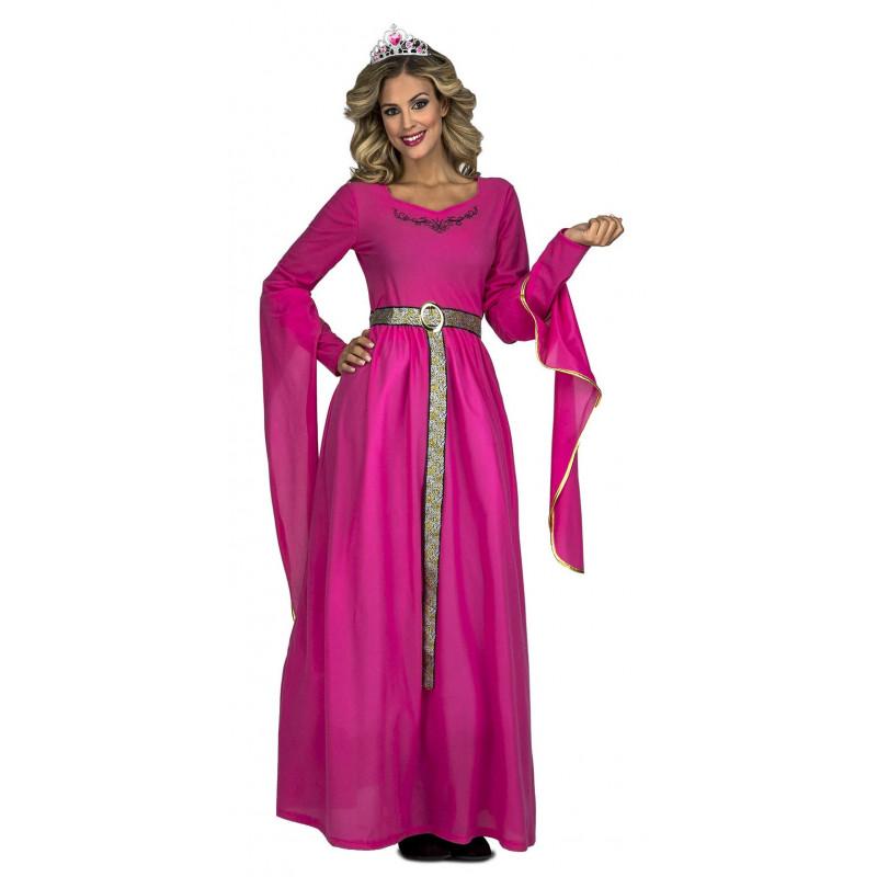 Disfraz de Reina Medieval Rosa para Mujer   Comprar Online