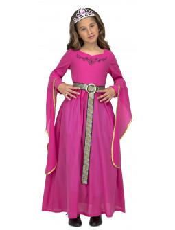 Disfraz de Princesa Medieval Rosa Infantil