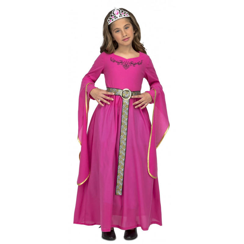 Disfraz de Princesa Medieval Rosa Infantil   Comprar Online