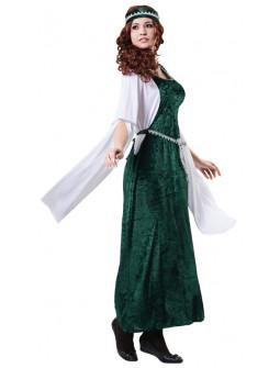 Disfraz de Princesa del Medievo Verde para Mujer