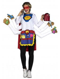 Disfraz de Super Madre Manitas para Mujer
