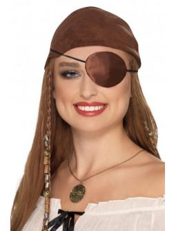 Parche Pirata de Tela Marrón