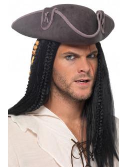 Sombrero Capitán Pirata Gris