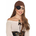 Parche Pirata Decorado de Tela Negra