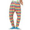 Pantalones de Payaso con Lunares y Rayas Multicolor
