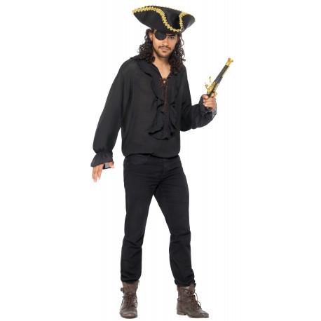Camisa Pirata Negra para Adulto