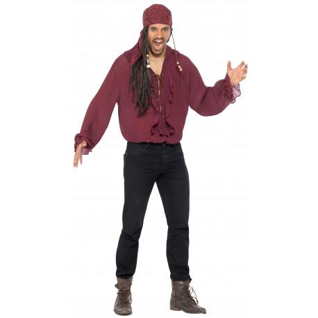 Camisa Pirata Granate para Adulto