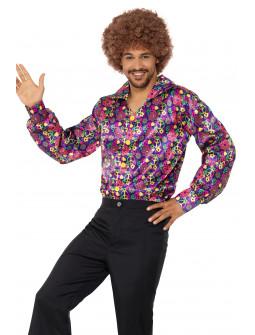 Camisa Disco Hippie Multicolor para Hombre